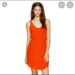 Babaton Silk Blythe Mini Dress Orange